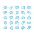 speech bubble speech flat line icons chat vector image vector image