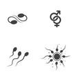 sperm icon design vector image vector image