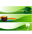 St Patrick's banners vector image vector image