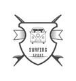 surfing sport logotype vector image vector image