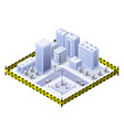 the blocked lockdown city is banned from vector image vector image