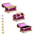 Treasure chest with pink gemstones