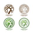 tree logo3 vector image vector image