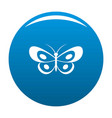 tropical butterfly icon blue vector image