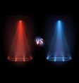 versus flooring battle projector shining pedestal vector image