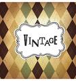 vintage retro card vector image vector image