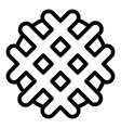 waffle biscuit icon outline style vector image