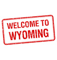 welcome to Wyoming red grunge square stamp vector image vector image