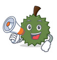 with megaphone durian character cartoon style vector image vector image