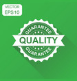 guarantee quality rubber stamp icon business vector image