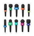 microphonereporter equipment mass media vector image