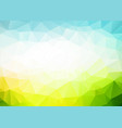 abstract blue green triangles background vector image vector image