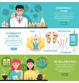 Alternative Medicine Horizontal Banners vector image vector image