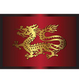 Asian traditional dragon vector image