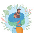 attractive couple cuddling vector image vector image