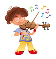 Baby musician vector image vector image