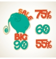 Badges big discounts vector image