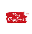 banner on a white background merry christmas vector image vector image