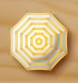 beach umbrella realistic parasol icon vector image