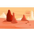 beautiful natural desert landscape scene of vector image vector image
