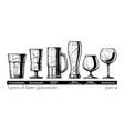 beer glassware vector image vector image