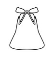 bell with bow ribbon black icon vector image vector image