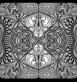 black and white psychedelic ornament coloring page vector image vector image