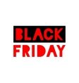 Black Friday Sale red icon vector image
