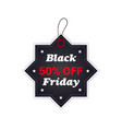black friday tag discount badge holiday shopping vector image vector image