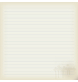 Blank sheet of old notebook vector image vector image