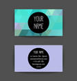 business card template with creative neon color vector image vector image
