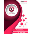 business red banner - a4 format vector image