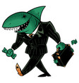 business shark dark suit vector image vector image