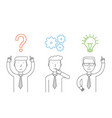 business thinking vector image vector image