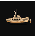 cartoon submarine design template vector image vector image