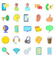 cell phone icons set cartoon style vector image vector image