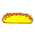 comic cartoon fire border vector image vector image