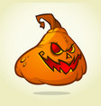 cute pumpkin head cartoon halloween vector image vector image
