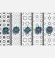 delicate seamless islamic patterns set vector image