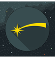 Digital yellow comet falling icon vector image vector image