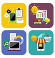Ecommerce and digital marketing concept icon set vector image
