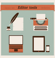 editor tools vector image