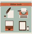editor tools vector image vector image