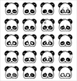 Emoticon Panda vector image