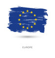 europe colorful brush strokes painted national vector image vector image