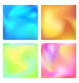 gradient set modern abstract background colorful vector image vector image