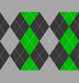 green gray argyle fabric texture seamless pattern vector image vector image