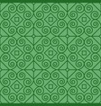 green pattern with linear swirls vector image vector image