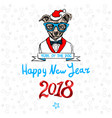 Happy 2018 new year card funny puppy