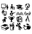 Icons set education vector image